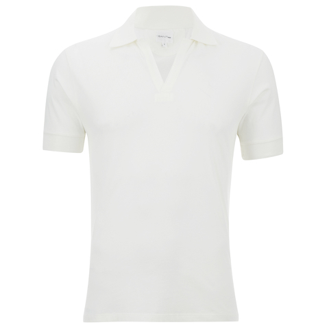 GANT Rugger Men's Vee Polo Shirt - Eggshell