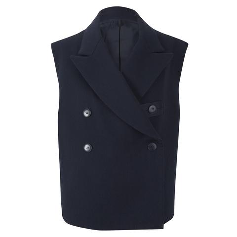 Helmut Lang Women's Brushed Doubleface Double Breast Waistcoat - Navy