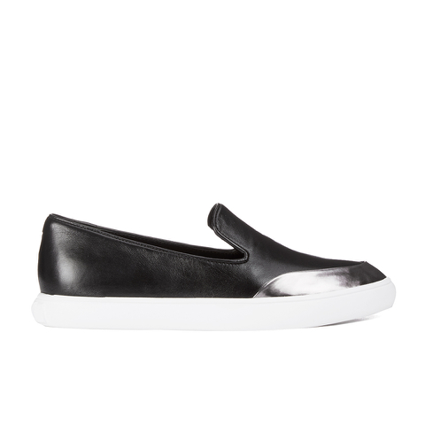 KENZO Women's K-Point Leather Slip-On Low Top Trainers - Black