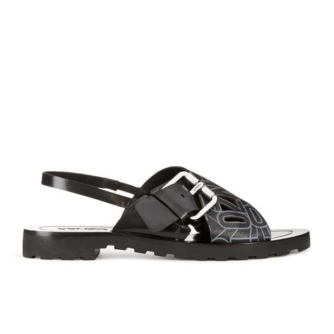 KENZO Women's Kruise Buckle Leather Sandals - Black