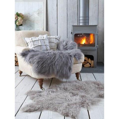 Royal Dream Large Sheepskin Rug - Grey