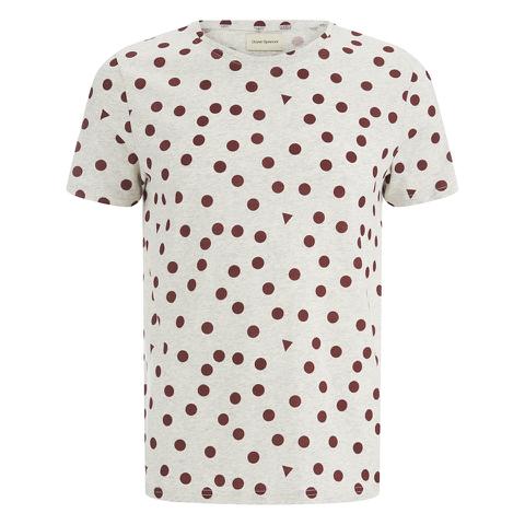 Oliver Spencer Men's Shapes T-Shirt - Oatmeal/Burgundy