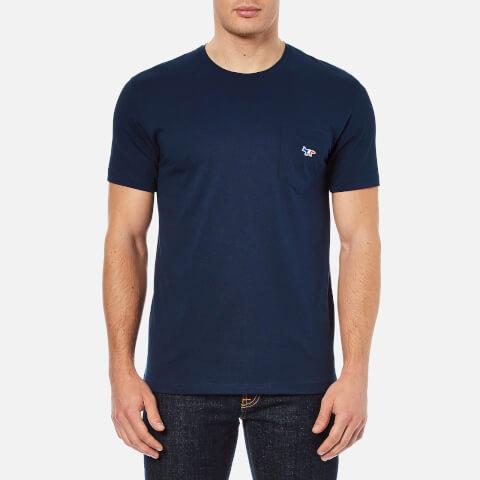 Maison Kitsuné Men's Tricolor Fox T-Shirt - Navy