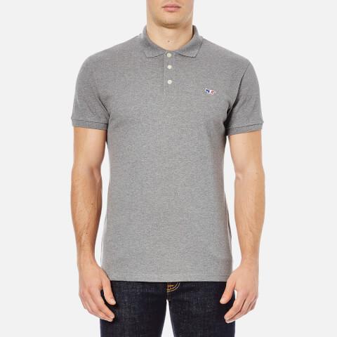 Maison Kitsuné Men's Tricolor Fox Polo Shirt - Grey
