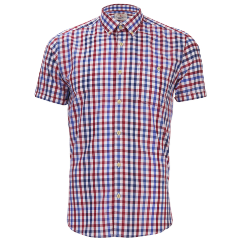 Barbour Men's James Tattersall Short Sleeve Shirt - Red