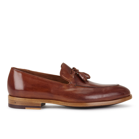 Paul Smith Shoes Men's Conway Leather Tassle Loafers - Tan Dip Dye