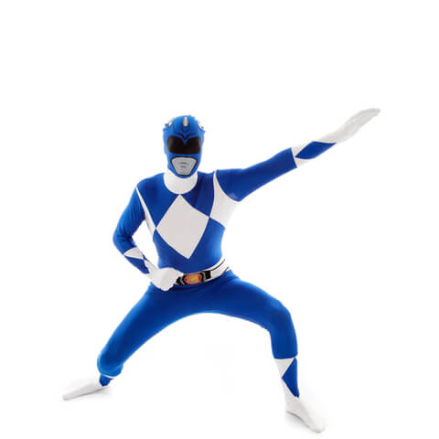 Morphsuit Adults' Power Rangers Azul