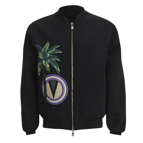 Versus Versace Men's Palm Logo Blouson Bomber Jacket - Black