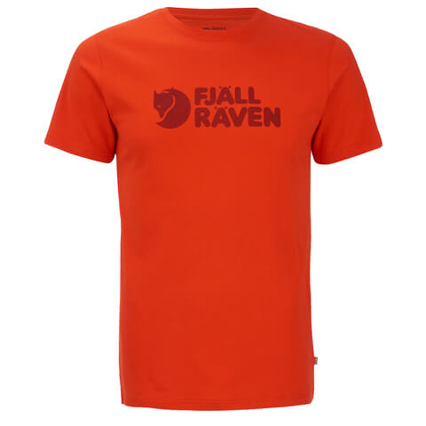 Fjallraven Men's Logo T-Shirt - Flame Orange