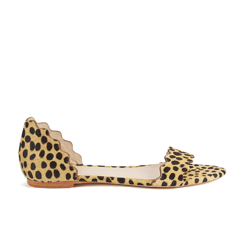 Loeffler Randall Women's Lina Scalloped Sandals - Cheetah