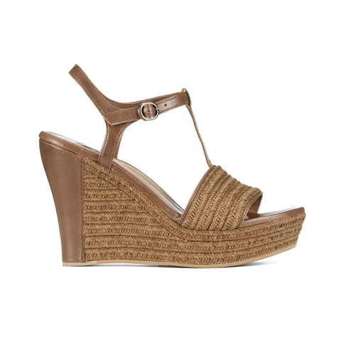 UGG Women's Fitchie T Bar Wedged Sandals - Rust