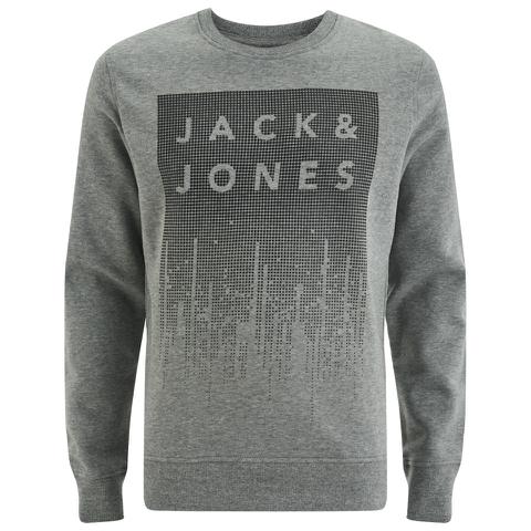 Jack & Jones Men's Core Noise Sweatshirt - Light Grey Melange