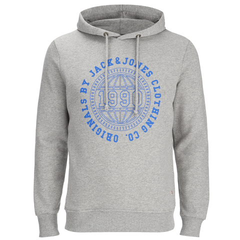 Jack & Jones Men's Originals Steven Hoody - Light Grey Melange
