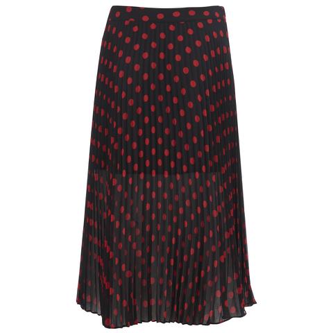 McQ Alexander McQueen Women's Pleated Skirt - Red/Black