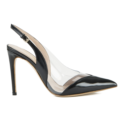 Vivienne Westwood Women's Caruska Sling Back Court Shoes - Black/Clear