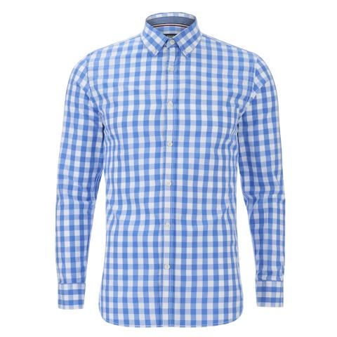 Produkt Men's Long Sleeved Checked Shirt - White