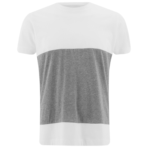 Folk Men's Colour Block T-Shirt - White/Grey