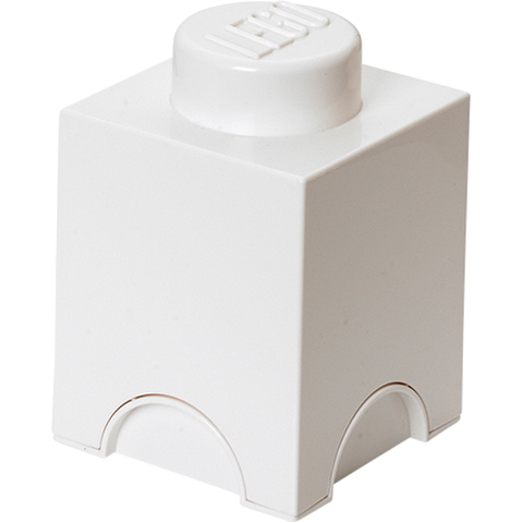 LEGO Aufbewahrungsbox 1 Noppe - Weiß