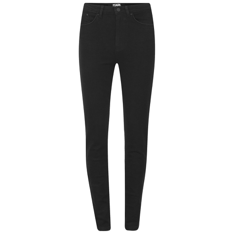 Karl Lagerfeld Women's High Waisted Rocky Skinny Jeans - Black