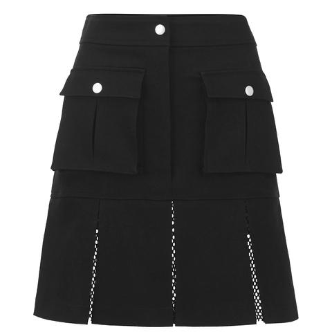 Karl Lagerfeld Women's Karl Denim Flare Skirt - Black