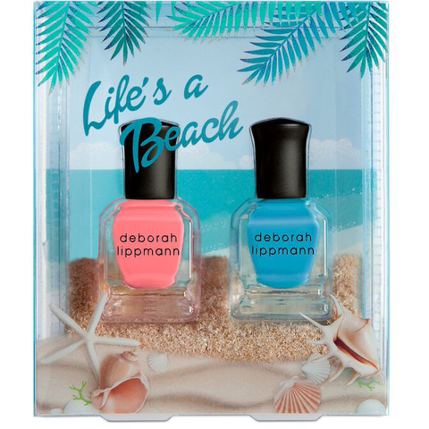 Deborah Lippmann Life's a Beach Nail Varnish Set (2 x 8ml)