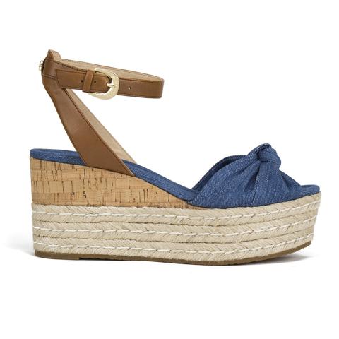 MICHAEL MICHAEL KORS Women's Maxwell Mid Wedge Sandals - Denim