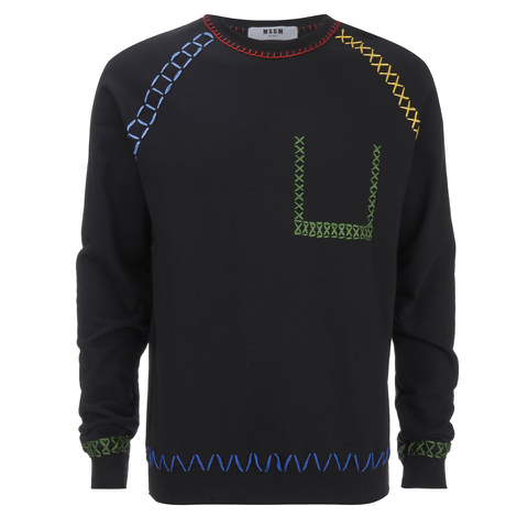 MSGM Men's Stitched Jumper - Black