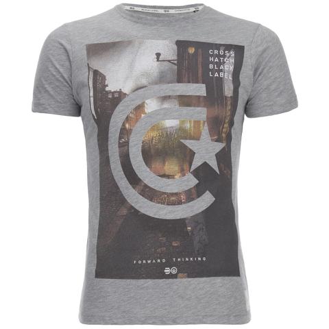 Crosshatch Men's Hamal Graphic T-Shirt - Grey Marl