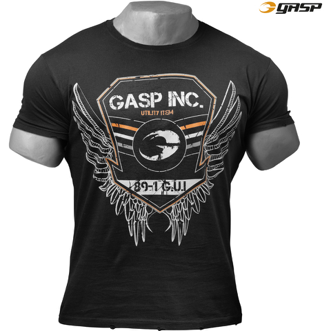 GASP Men's Rough Print T-Shirt - Wash Black