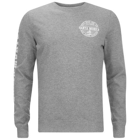 Threadbare Men's Michigan Crew Neck Sweatshirt - Grey