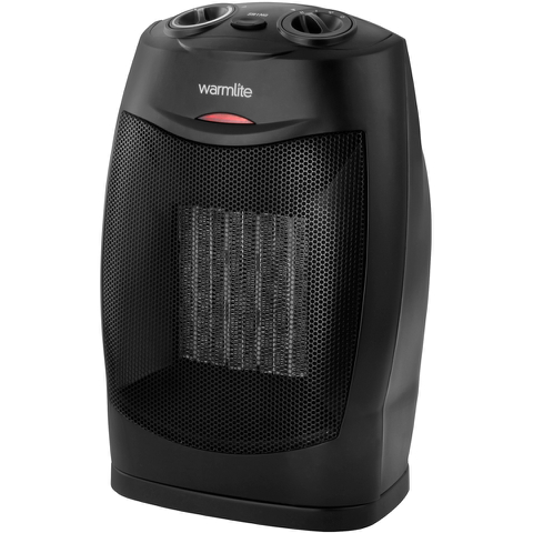 Warmlite WL44005 Ceramic Fan Heater - Black - 1500W