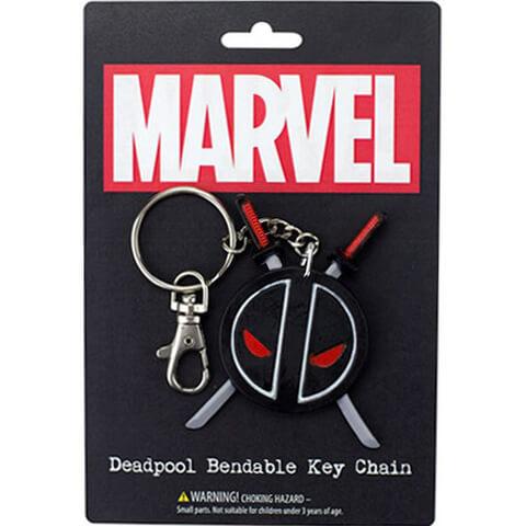 Marvel Deadpool Logo Bendable Key Chain
