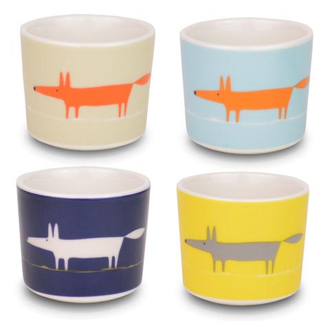 Scion Mr Fox Egg Cups - Set of 4
