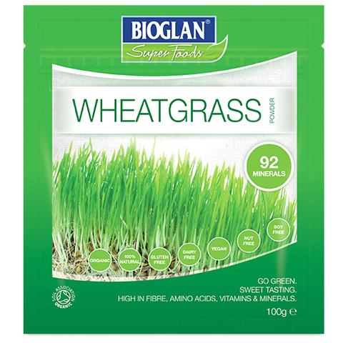Bioglan Superfoods Supergreens Wheatgrass Powder - 100g