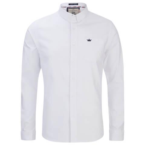 Brave Soul Men's Pompeii Long Sleeve Shirt - White