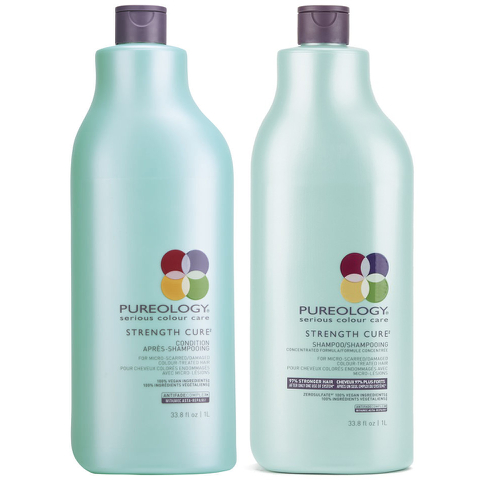 Pureology Strength Cure Shampoo and Conditioner (1000ml)