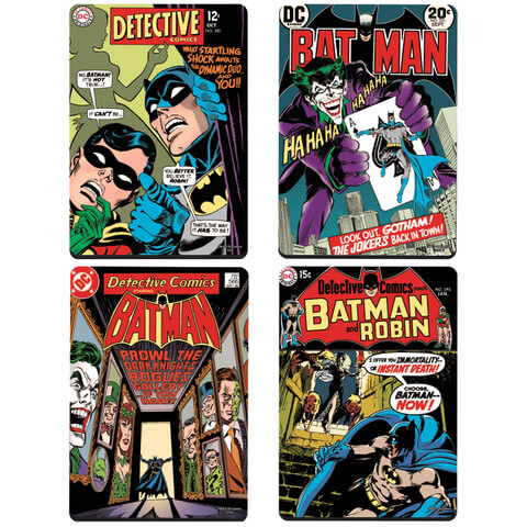 DC Comics Batman Comic Covers Set of 4 Coasters