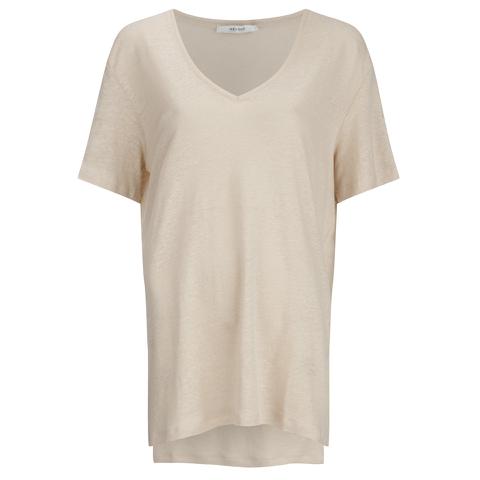 Gestuz Women's Poppy Short Sleeve Top - Smoke Gray