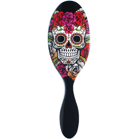 Wet Brush Sugar Skull - Red Rose