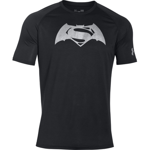 Under Armour Men's Transform Yourself Superman v Batman T-Shirt - Black