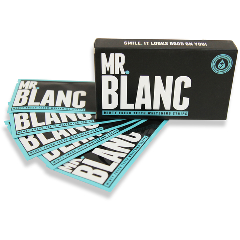 Mr Blanc Teeth Whitening Strips 14 Day Supply