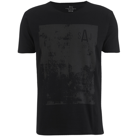Smith & Jones Men's Diazoma Print T-Shirt - Black