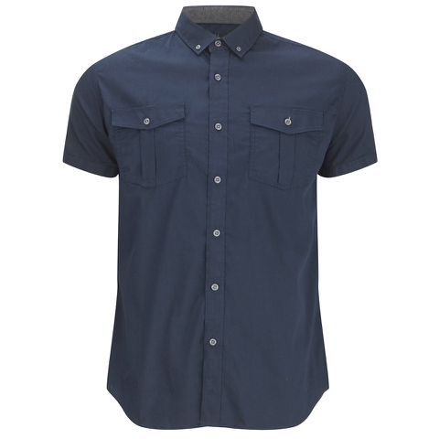 Smith & Jones Men's Pelmet Short Sleeve Shirt - Navy Blazer
