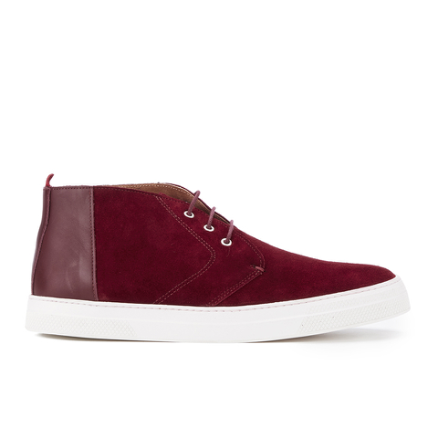 Oliver Spencer Men's Beat Chukka Boots - Burgundy Suede