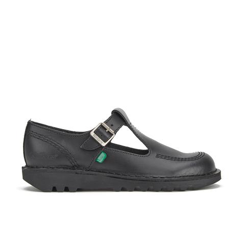 Kickers Women's Kick Lo Aztec T-Bar Shoes - Black