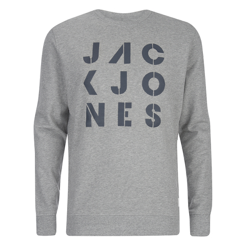 Jack & Jones Men's Core Dylan Crew Neck Sweatshirt - Light Grey Marl