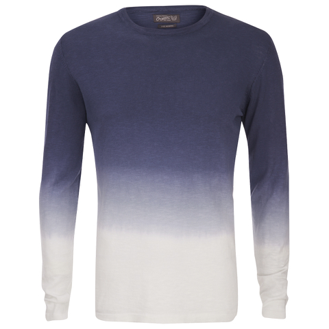 Jack & Jones Men's Originals Dyed Knitted Crew Neck Jumper - Navy Blazer