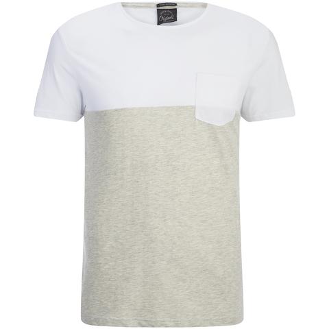 Jack & Jones Men's Originals Tobe 2 Tone T-Shirt - White