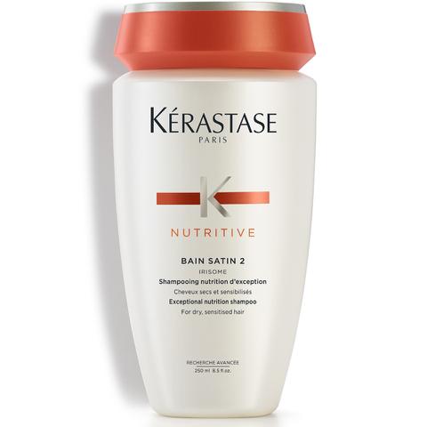 Kérastase Nutritive Bain Satin 2, Shampoing Cheveux Secs (250ml)