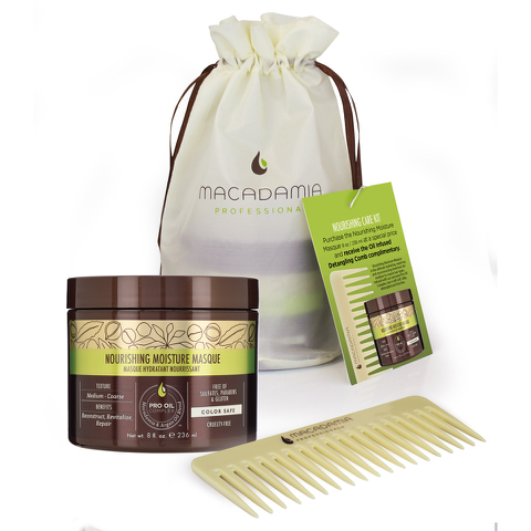 Macadamia Nourishing Care Kit - Masque and Comb